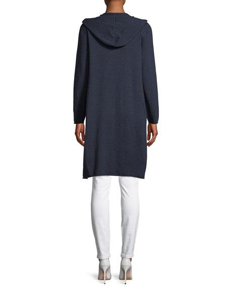 Hooded Peruvian Organic Cotton Long Cardigan
