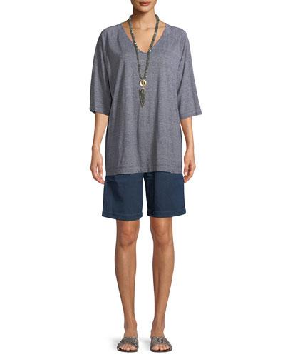 Denim Walking Shorts  and Matching Items