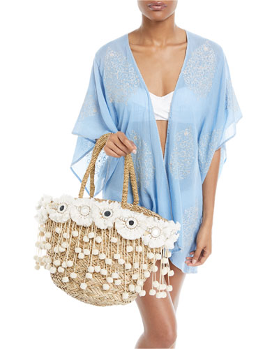 Auberge Embroidered Kimono Coverup and Matching Items