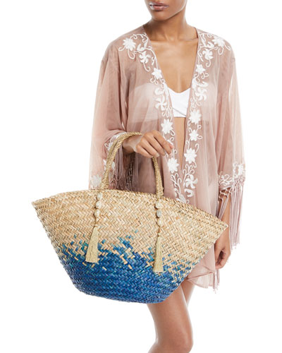 Azmara Open-Front Embroidered Mesh Kimono Coverup and Matching Items