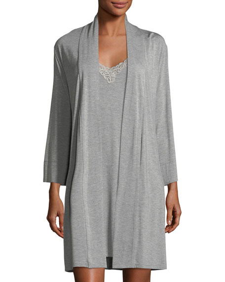 Feathers Essential Short Jersey Robe
