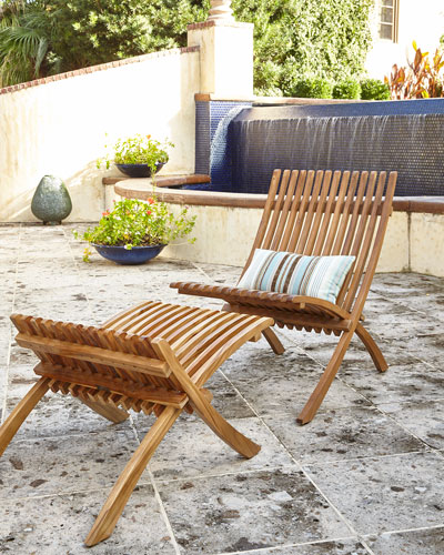 Teak Folding Chair  and Matching Items