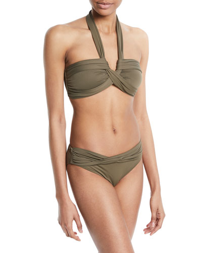 Twisted Bandeau Swim Top and Matching Items