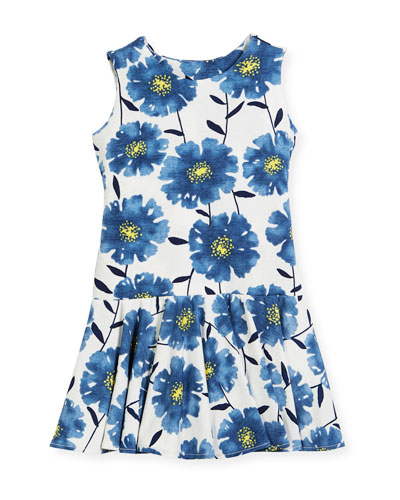 Knit Daisies Drop-Waist Dress, Size 4-6  and Matching Items
