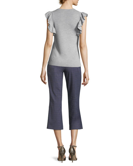 Magdalene Ruffle-Sleeve Sweater