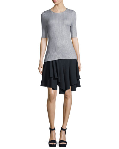 Payton Layered-Hem A-Line Skirt and Matching Items