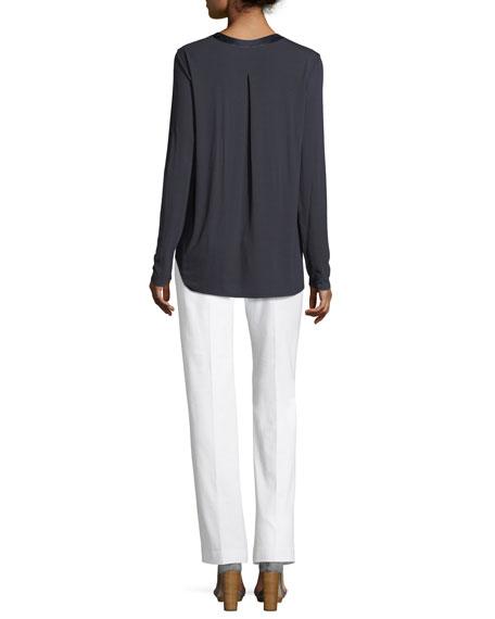 Farah V-Neck Silk Blouse