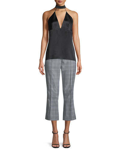 Lisa Glen Plaid Cropped Pants and Matching Items