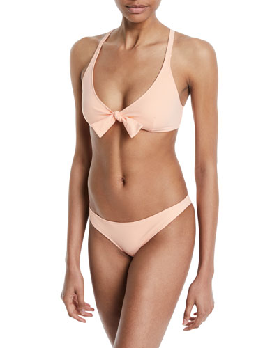The Fiona Triangle Tie-Front Swim Top and Matching Items