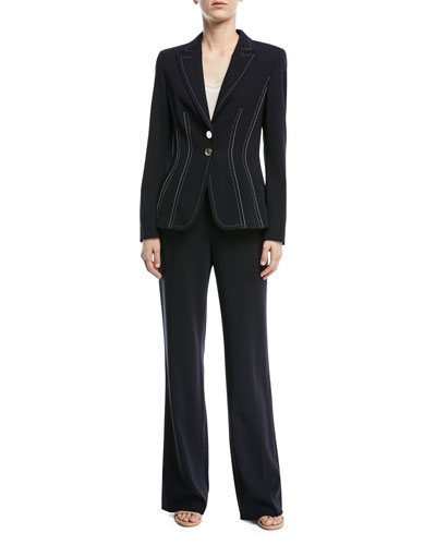 Two-Button Stretch-Wool Blazer  and Matching Items