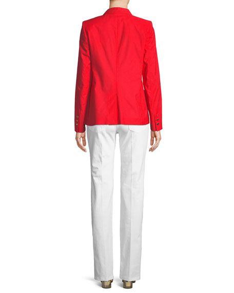 Two-Button Stretch-Cotton Jacket