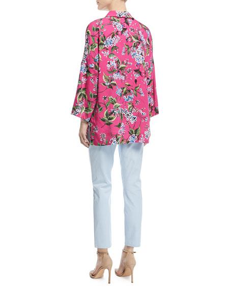 V-Neck Floral-Print Tunic