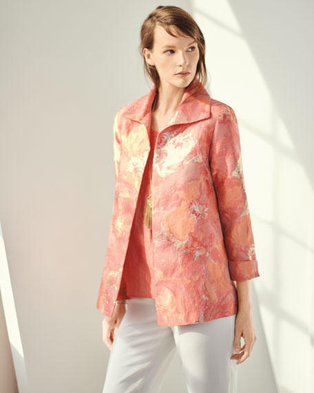 Sitting Pretty Floral Jacquard Jacket