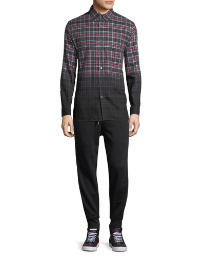 Enver Ombré-Plaid Sport Shirt and Matching Items