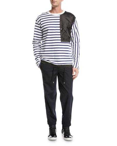 Delroy Striped Crewneck Top