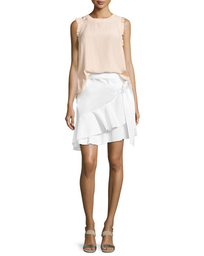 Lenore Crewneck Sleeveless Silk Top and Matching Items