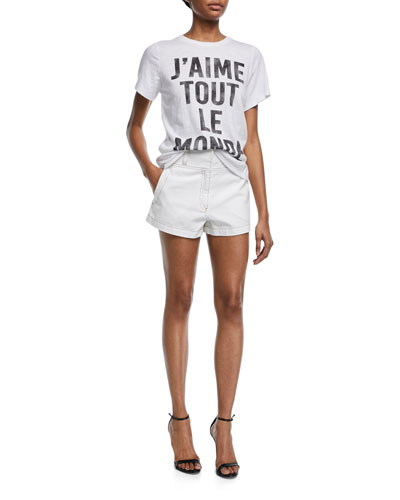 J'aime Tout Le Monde Crewneck Short-Sleeve Tee and Matching Items