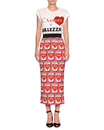 L'Amore  è Bellezza Cap-Sleeve Graphic-Print T-Shirt and Matching Items