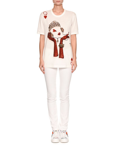 Short-Sleeve Queen of Hearts T-Shirt and Matching Items
