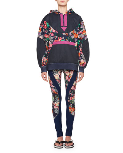 Zansel Hawaiian-Print Oversized Hooded Sweatshirt and Matching Items