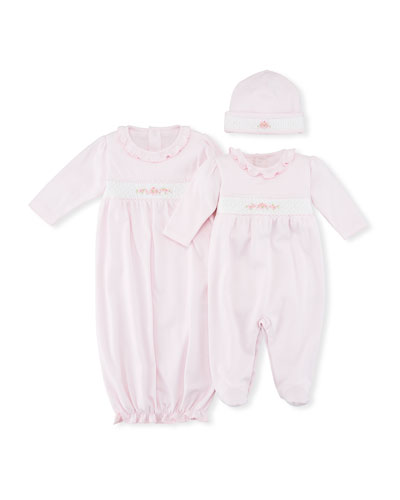 CLB Summer Medley Smocked Sleep Gown, Size Newborn-S  and Matching Items