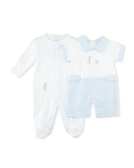 Scattered Baby Jungle Pima Footie Pajamas, Size Newborn-9M