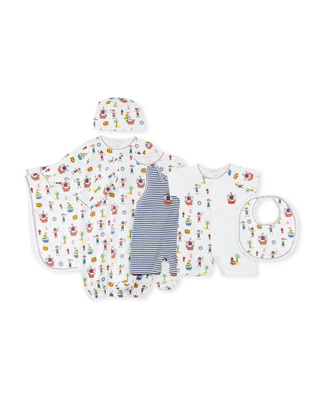 Buccaneers Print Convertible Gown, Size Newborn-Small