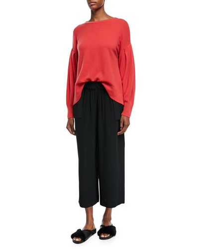 Cinched Waist Crepe Ankle Culottes and Matching Items