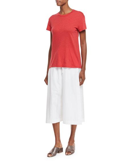 Short-Sleeve Crewneck Cotton T-Shirt
