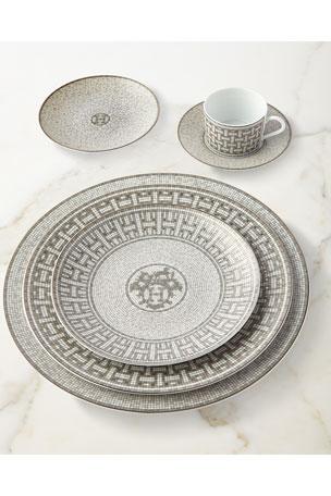 Hermès Mosaique au 24 Platinum Cup & Saucer Mosaique au 24 Platinum Bread & Butter Plate