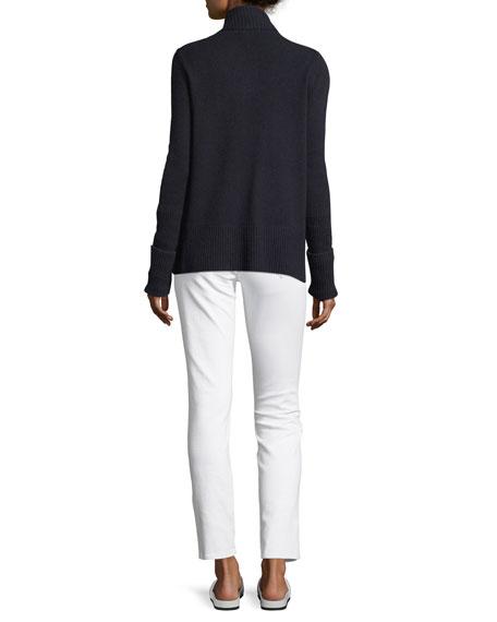 Cashmere Wide-Collar Cardigan Sweater