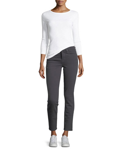 Skinny Crop Straight-Leg Jeans and Matching Items