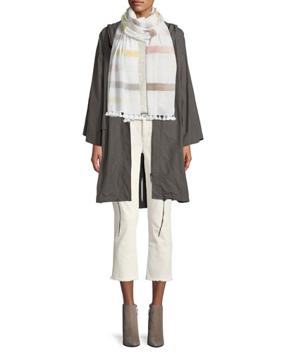 Hooded Organic Cotton/Nylon Anorak Jacket and Matching Items