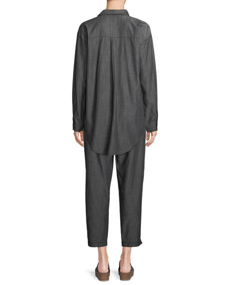 Denim Long-Sleeve Tunic