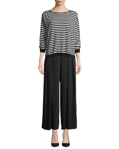 Seamless Seasonless Striped Cashmere Top and Matching Items