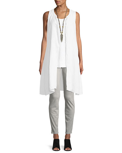 Sleeveless Scoop-Neck Lightweight Jersey Tank and Matching Items