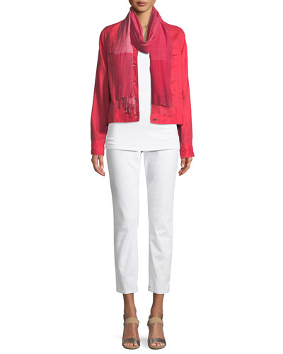 Organic Linen Crop Jacket and Matching Items