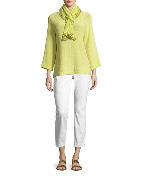 3/4-Sleeve Organic Linen Jersey Tunic