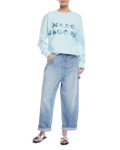 Embellished-Logo Crewneck Sweatshirt  and Matching Items