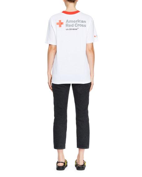Crewneck Short-Sleeve Oversized Cotton T-Shirt