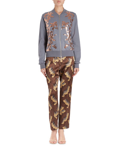 Hassold Palm-Embroidered Cotton Bomber Jacket  and Matching Items