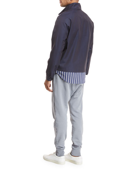 Stand-Collar Zip-Front Jacket