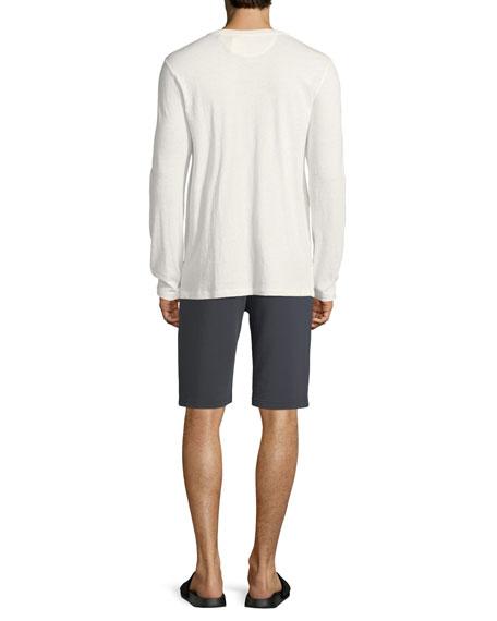 Cotton/Linen Military Henley Shirt