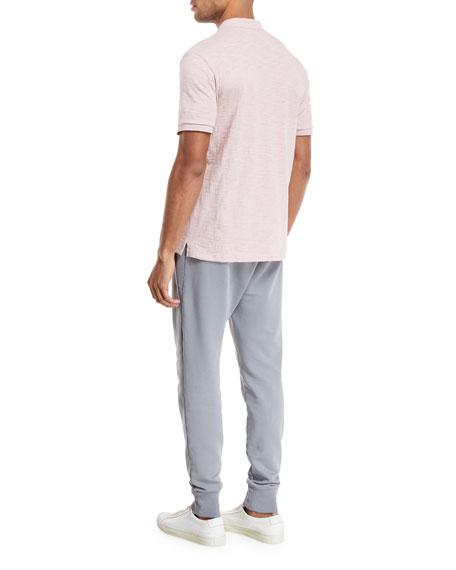Heathered-Jersey Classic Polo Shirt