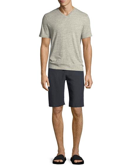 Cotton/Linen V-Neck T-Shirt