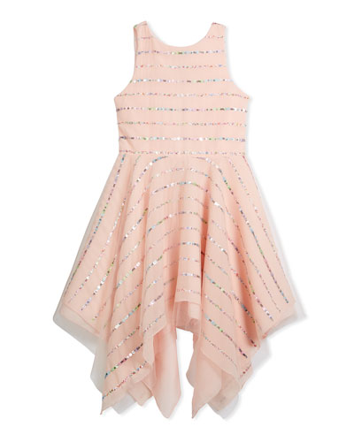 Tulle Sequin Stripe Dress, Pink, Size 4-6X and Matching Items