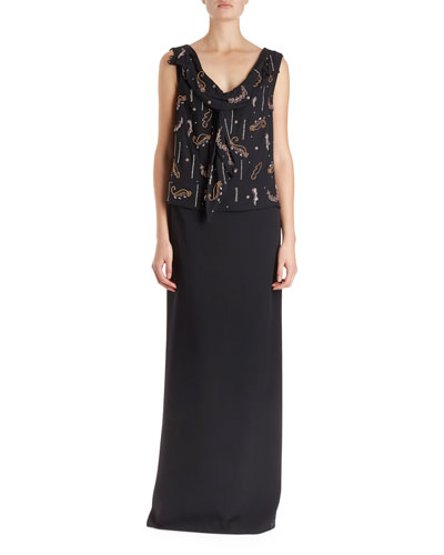 Certus Sleeveless Drape Blouse w/ Spontaneous Embellishment  and Matching Items