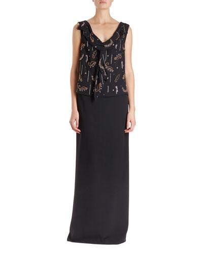 Certus Sleeveless Drape Blouse w/ Spontaneous Embellishment  and Matching Items
