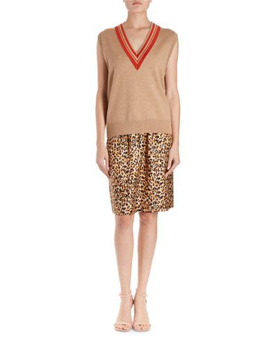 Jenifa Knit Sweater Vest w/ Racer V-Neck  and Matching Items