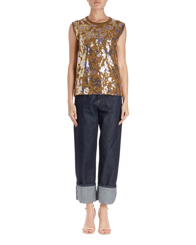 Haiko Sleeveless Scattered Sequin Top  and Matching Items